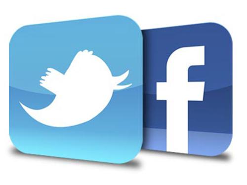 مستخدمي الفيس بوك وتويتر في الوطن العربي في منتصف 2013م